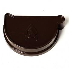 Заглушка ринви ProAqua ліва темно-коричнева (125мм)
