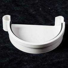 Заглушка ринви ProAqua ліва біла (125мм)
