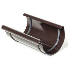 З`єднувач ринви ProAqua темно-коричневий (125мм)
