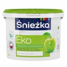 Фарба акрилова «Снєжка Еко» біла 1л (1,4 кг)