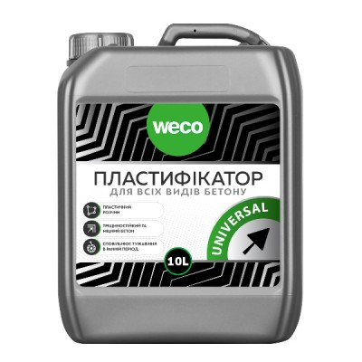 Пластифікатор для всіх видів бетону Universal 10,0 л WECO